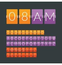 Flat countdown timer vector