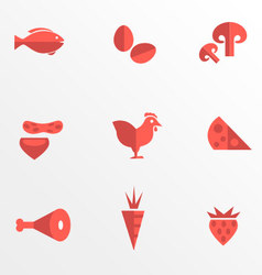 Food category flat icons vector