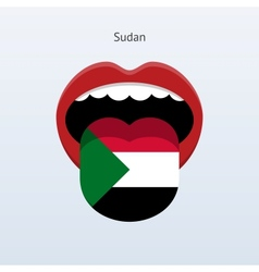 Sudan language abstract human tongue vector