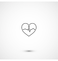 Simple minimalistic heart ecg vector
