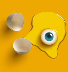 Egg eye vector