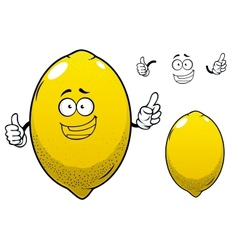 Cartoon yellow lemon citrus fruit vector