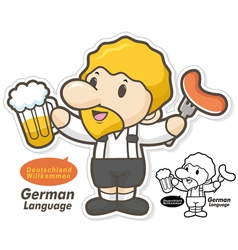 The department of german language and literature vector