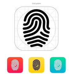 Fingerprint loop type icon vector