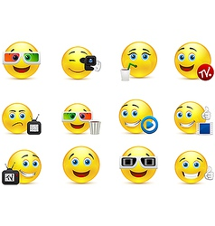 Smiley images with elements of the entertainment vector