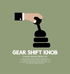 Gear shift knob vector