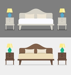 Bedroom interior design vector