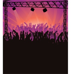 Concert poster with crowd vector