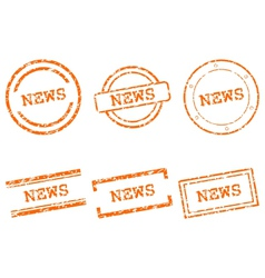News stamps vector