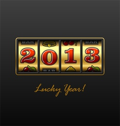 2013 - lucky year vector