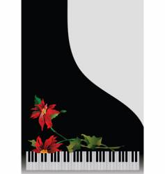 Piano with flowers vector