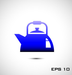 Kettles icon or teapots icon vector