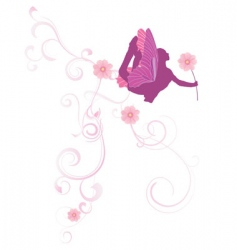 Flowers fairy vector