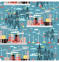 Pattern of thermal and wind power vector