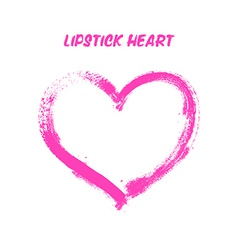 Lipstick painted heart vector