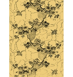 6 abstract hand-drawn floral pattern vintage vector