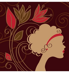 Woman's silhouette vector