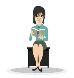Woman reading vector