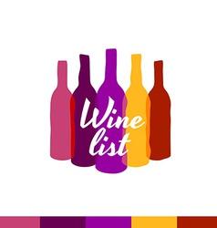 Wine list logo template menu title decoration vector