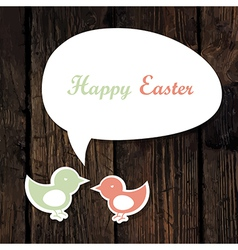 Easter greeting card wooden vector