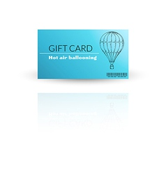Modern gift card template with balloon vector