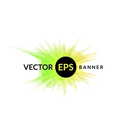 Ink explosion banner design template digital vector