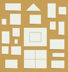 Blank postage stamp set vector