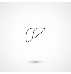 Simple liver icon vector