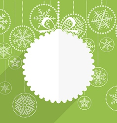 Green christmas greeting card vector