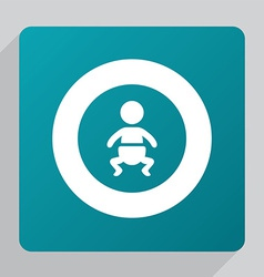 Flat baby icon vector