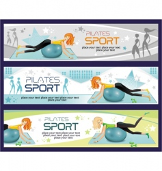Sporty girl banners vector