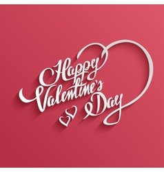 Happy valentines day lettering greeting card vector