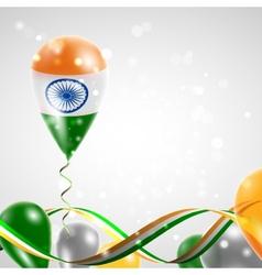 Flag of india on balloon vector