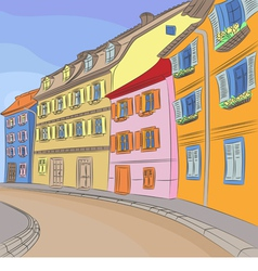 Cityscape of old european city vector