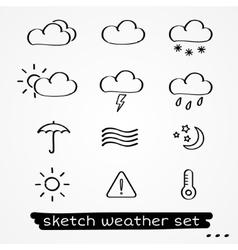 Weather sketch set vector