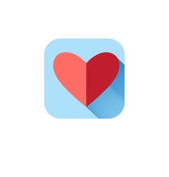In love icon heart vector