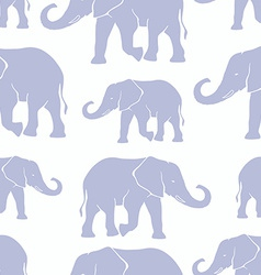 Seamless pattern with hand drawn silhouette vector