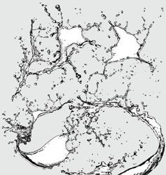 Watersplashes vector