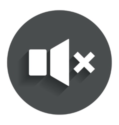 Mute speaker sign icon sound symbol vector