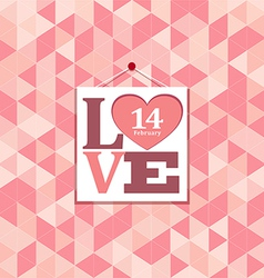 Happy valentines pink geometric greeting cards vector