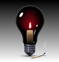 Light bulb with candle vector