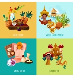 Thailand touristic set vector