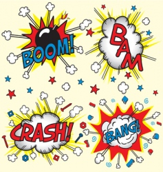 Crash bam boom and bang vector