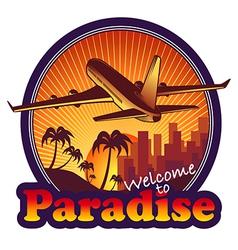 Travel paradise vector