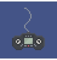 Pixel art design item - simply drawn wired gamepad vector