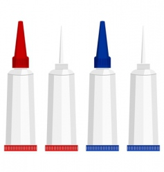 Super glue tubes vector