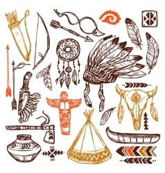 Native americans set vector