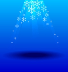 Snowflakes crystal under light blue background vector