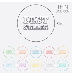 Best seller sign icon best seller award symbol vector