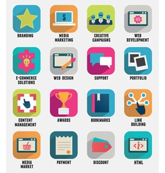 Business internet service and ecommerce icons vector